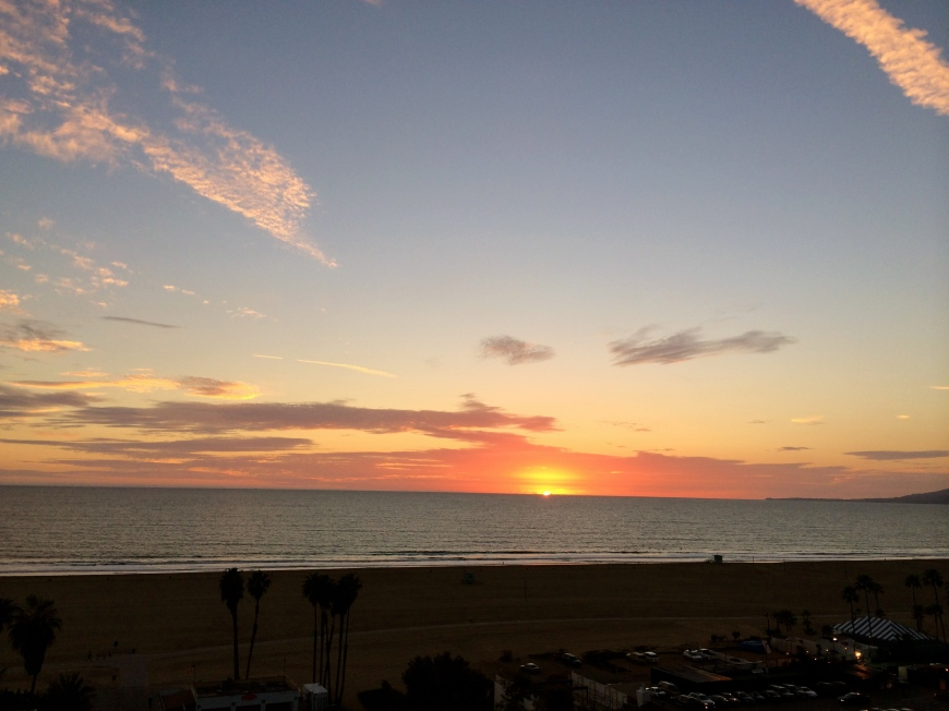 Birthday Sunset at Palisades Park